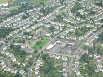 Mosspark from the air, during a flying lesson