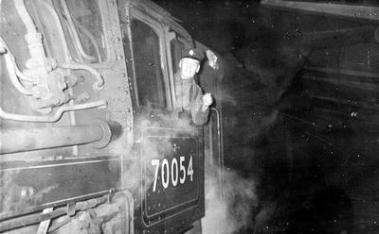 Engine driver at Corkerhill