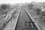 Looking east over Corkerhill station in February 1990