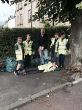 Scout clean up team